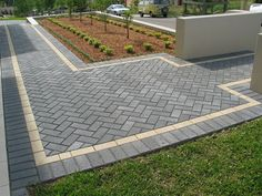 "Acquire terrific pointers on ""patio pavers design"". They are actually accessible for you on our site. Brick Paving, Paver Walkway, Concrete Patio, Paving Stones, Front Yard Landscaping, Outdoor Landscaping, Backyard Patio, Outdoor Gardens, Paver Designs"