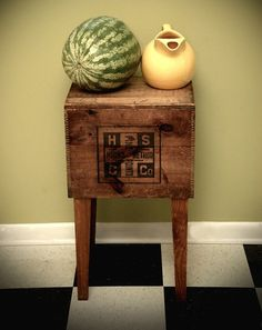 Shipping Crate Side Table Hicks Method Cross by modernarks on Etsy