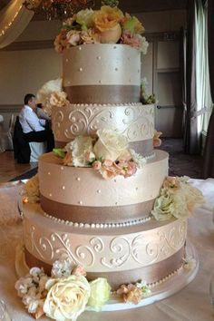 Wedding cake via best dress #weddingcake