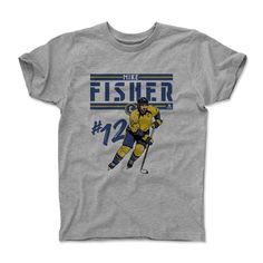 Mike Fisher Play B Nashville Officially Licensed Toddler and Youth T-Shirts 2-14 Years
