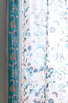 Allegra Window Panel | Urban Outfitters Allegra's Window, Window Panels, Colorful Shower Curtain, Crystal Door Knobs, Border Pattern, Curtain Tie Backs, House Design, Windows, Curtains