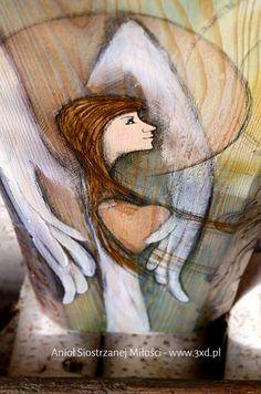 Anioł Siostrzanej Miłości | Anioł malowany na drewnie | http://www.3xd.pl/sklep/anioly/aniol-siostrzanej-milosci/ | autor: Elka Ciępka