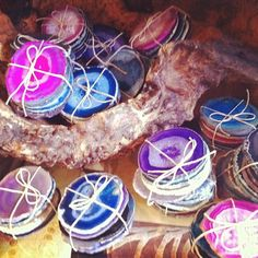 Agate slice coasters by #scad alum Sarah Lewis $60 set