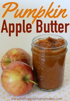 It's time for all things PUMPKIN! Whether you're serving up breakfast, desserts, or even a quick snack- we've got a pumpkin recipe that's perfect for you. Jelly Recipes, Jam Recipes, Canning Recipes, Holiday Recipes, Crockpot Recipes, Crockpot Apple Butter, Preserving Recipe, Recipies, Vegan Recipes