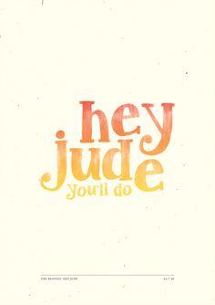 Hey Jude em Cartazes Tipográficos   Criatives   Blog Design, Inspirações, Tutoriais, Web Design