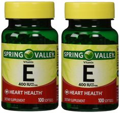 Spring Valley Vitamin E 400 IU, 100 Softgels (Pack of 2) * Click image for more details.