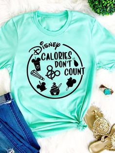 Disney Calories dont count shirt Disney Snackgoals Shirt Disney shirt Disney women shirt Disney Vacation Tshirt I like my Food Mickey shape - Playeras - Disney Vacation Shirts, Disney Vacations, Disney Trips, Disney Cruise, Disneyland Trip, Disneyland Family Shirts, Disney Honeymoon, Walt Disney, Cute Disney Outfits