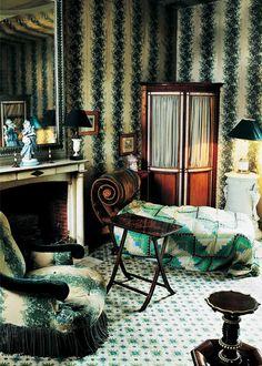 'The World of Madeleine Castaing' wallpaper Rayure Fleurie