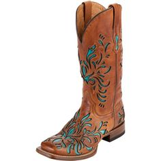 Women's Stetson Saddle Tan Cowgirl Boots