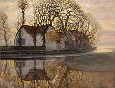 Farm near Duivendrecht, 1916 by Piet Mondrian - art print from King & McGaw