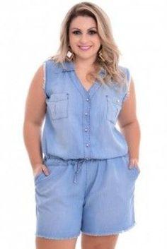 Macaquinho Jeans Plus Size Nataly Plus Size Clothing Stores, Plus Size Womens Clothing, Plus Size Fashion, Plus Size Maxi Dresses, Plus Size Outfits, Dresses To Wear To A Wedding, Looks Plus Size, Moda Plus Size, Plus Size Jeans
