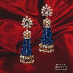 Beaded Jewelry Designs, Jewelry Design Earrings, Gold Earrings Designs, Coral Jewelry, Silver Jewelry, Necklace Designs, Baby Jewelry, Bead Jewellery, Bridal Jewellery