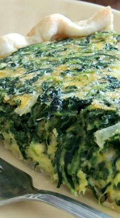 Easy Cheddar & Spinach Quiche
