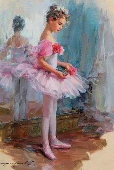Kai Fine Art is an art website, shows painting and illustration works all over the world. Ballerina Kunst, Vintage Ballerina, Little Girl Ballet, Ballerina Painting, Ballet Art, Classic Paintings, Art Themes, Art Pictures, Tutu