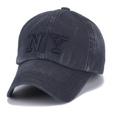Cotton cap for men & women casual summer hat NY washed cap Unisex baseball caps