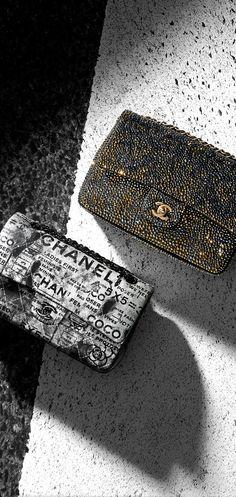 Strass flap bag - CHANEL
