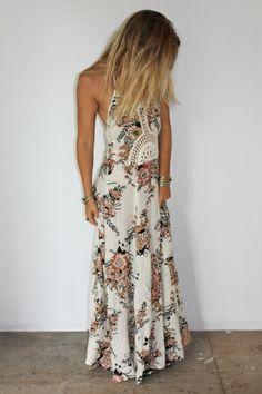 Hope Maxi Dress Cinnamon Wildflower - Arnhem Clothing