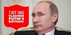7 October Vladimir Putin's birthday Russian Federation, Vladimir Putin, Presidents, October, History, Birthday, Historia, Birthdays, Dirt Bike Birthday