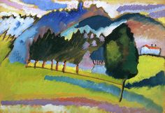 """guggenheim-art: """" Landscape with Rolling Hills by Vasily Kandinsky, Guggenheim Museum Solomon R. Guggenheim Museum, New York Solomon R. Guggenheim Founding Collection, By gift © 2016 Artists. Wassily Kandinsky, Franz Marc, Abstract Landscape, Landscape Paintings, Abstract Art, Abstract Expressionism, Museums In Nyc, Art Moderne, Art Abstrait"""