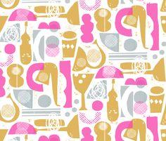 funky jazz fabric by ottomanbrim  Gorgeous!