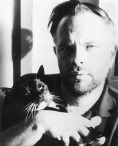 Philip K Dick wrote some Wonderful Stuff. Philip K Dick loved Cats. Philip K Dick was a Handsome Man. Celebrities With Cats, Men With Cats, K Dick, Tv Movie, Movies, Albert Schweitzer, Son Chat, Writers And Poets, Cat People