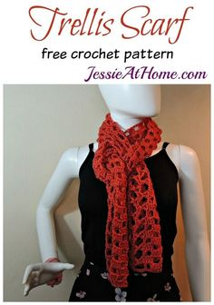 Trellis Scarf - free crochet pattern by Jessie At Home: