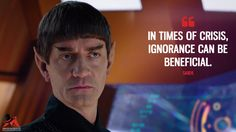 Sarek: In times of crisis, ignorance can be beneficial. More on: https://www.magicalquote.com/series/star-trek-discovery/ #StarTrekDiscovery #sarek