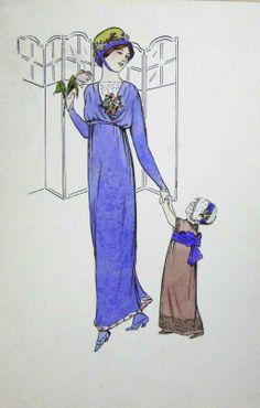 Jeanne Lanvin La femme et L'Enfant, années 1920 © Patrimoine Lanvin. #Lanvin125