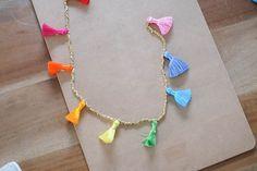 DIY Beaded Tassel Necklace. - The Stripe