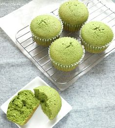 Matcha Cupcakes:Soft smooth texture, and enjoy rich Matche taste. provided by OYSHEE - easy recipes -