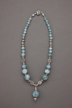 """Contemporary Jewelry - """"Expressive Aquamarine"""" (Original Art from The Carol Canter Collection)"""