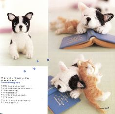 Handmade Needle Felted Animals polymer clay sculptures art