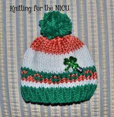 """No Pinches"" St. Patrick's Day Preemie/Newborn Hat - Knitting for the NICU"