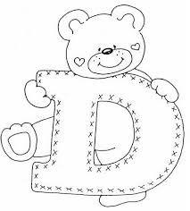 Resultado de imagen para moldes del abecedario infantil
