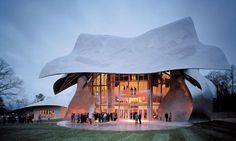 The Richard B. Fisher Center for the Performing Arts, designed by acclaimed architect Frank Gehry.