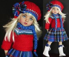 SWEATER-SKIRT-HAT-BOOTS-SET-MADE-FOR-EFFNER-LITTLE-DARLING-SAME-SIZE-13-DOLL. Sold 11/18/14 for $74.99.