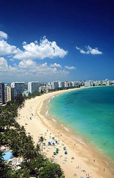 Playa de Isla Verde, PR. It's kinda close, I wanna go..