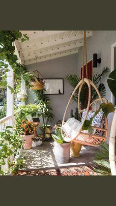 A maximalist with a minimal budget fills her home with murals - decoration ideas- Eine Maximalistin mit minimalem Budget füllt ihr Zuhause mit Wandgemälden – Dekoration Ideen A maximalist with a minimal budget fills her … - Small Balcony Decor, Plants On Porch, Balcony Hanging Plants, Small Balcony Design, Terrace Decor, Small Balcony Garden, Small Terrace, Hanging Herb Gardens, Small Sunroom