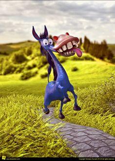 Funny donkey character design and illustration www.deviantom.com Twitter: @Deviatom Instagram: @tomajestic