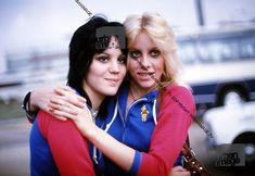 Joan Jett and Cherie Currie photographed by Adrian Boot, 1976.