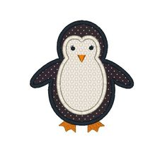 Pinterest Penguin Applique | Penguin Applique Machine Embroidery Design. ... | Machine Embroider...