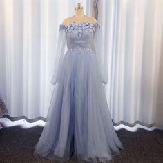 Elegant Prom Dresses, Prom Dresses Long With Sleeves, Prom Dresses Blue, Cheap Prom Dresses, Formal Dresses, Beaded Prom Dress, Dress Robes, Gowns, Long Sleeve