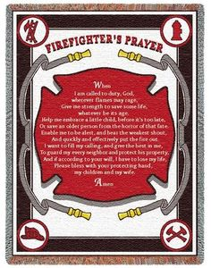 Personalized Firefighters Prayer Inspirational Tapestry Throw
