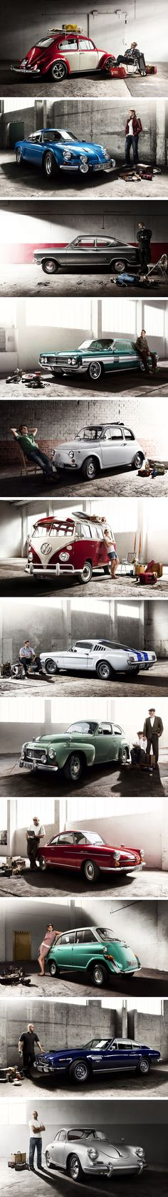 Retro Colleccion del Oldtimer Calendar por Mirko Frank // See, this is the kind of dream car calendar we need more of. Automotive Photography, Car Photography, Retro Cars, Vintage Cars, Retro Vintage, Volkswagen, American Graffiti, Cabriolet, Love Car