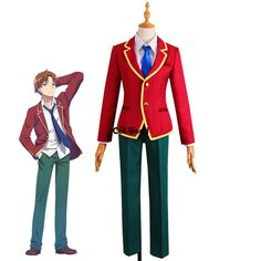 Classroom of the Elite Ayanokouji Kiyotaka Katsuragi Kouhei School Uniform Coat Shirt Pants Outfit Anime Cosplay Costumes Anime Cosplay Costumes, School Uniform, Pants Outfit, Costume Accessories, School Outfits, Anime Characters, Classroom, Coat, Model