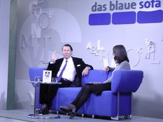 Martin Suter auf dem Blauen Sofa | FBM 11.10.12, via Flickr. Sofa, Blue, Settee, Couch, Couches
