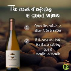 For everyone who's been helping wine breathe for years. :) #GourmetExpressions #LoveforWine