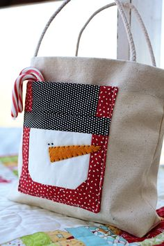 Snowman Gift Bag Download Pattern by sweetwaterscrapbook