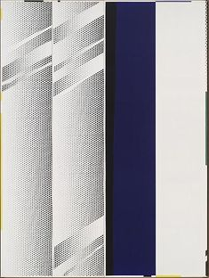 Roy Lichtenstein - Mirror Four Panels Contemporary Artists, Modern Art, Pop Art, Industrial Paintings, Imperial Hotel, Jasper Johns, Comic Book Style, Roy Lichtenstein, Art Institute Of Chicago