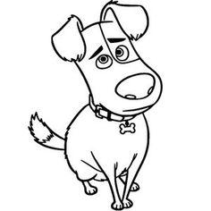"""Трафарет """"Домашняя собака 2"""", размер 13 на 22 см."""